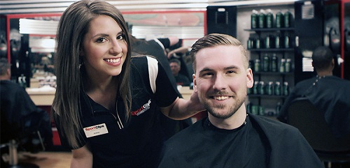 Sport Clips Haircuts of West Lansing​ stylist hair cut
